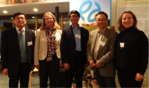 Group photo of Prof. SHI Peijun, YE Qian and other directors who attended the ceremony of initiative Future Earth at the Swedish Royal Academy of Sciences